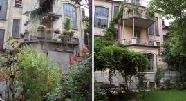 Prima e dopo: Il giardino interno
