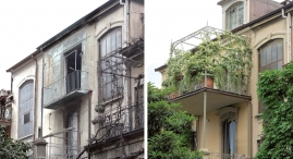 Il vecchio balcone del secondo piano e' stato trasformato in terrazzo; recupero del sottotetto con creazione di abbaini