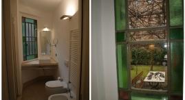 P.t.: bagno e affaccio sul giardino dalla cucina