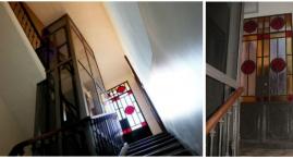 Installazione di ascensore nel vano scala e restauro dei vecchi portoncini in ferro per accedere ai balconi