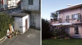 Un vecchio magazzino e' stato trasformato in terrazza verandata